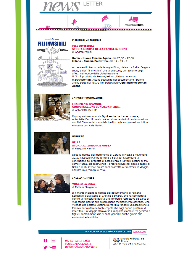 Newsletter FEBBRAIO 2013