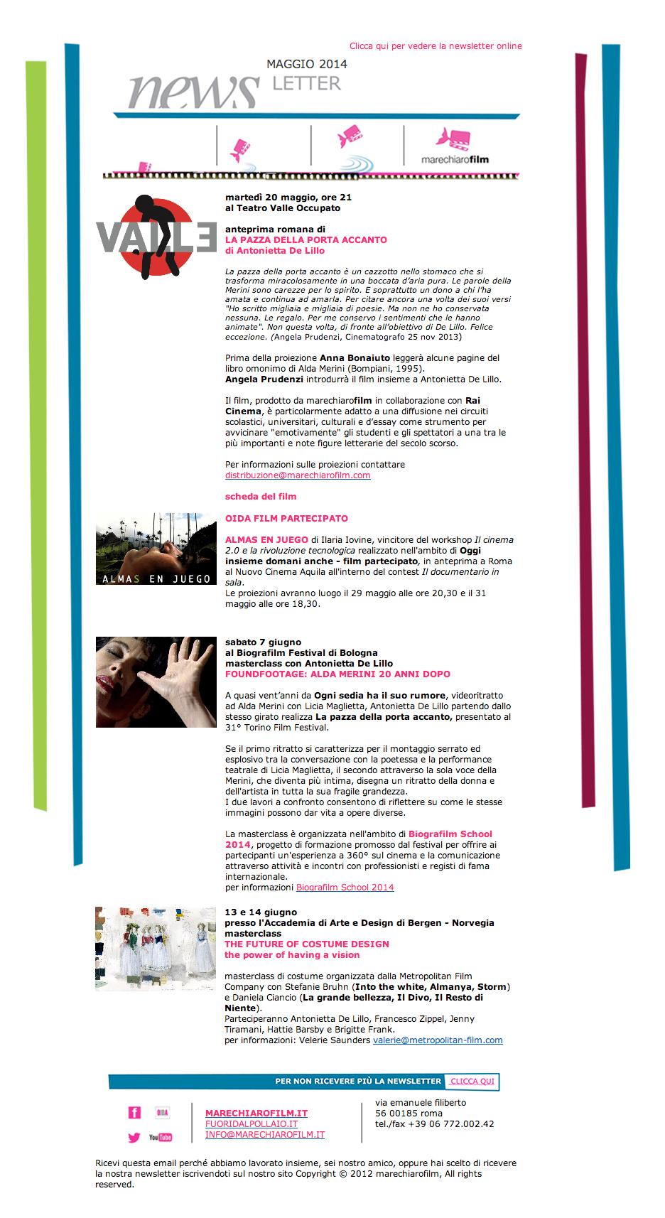 newsletter maggio 2014